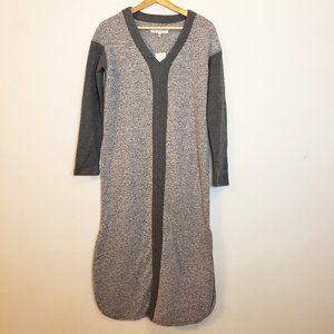 NWT Karen Neuburger Kaftan Nightgown Gray Knit S